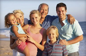 Smiling family gets their dental needs met with family dentistry in Boise ID.